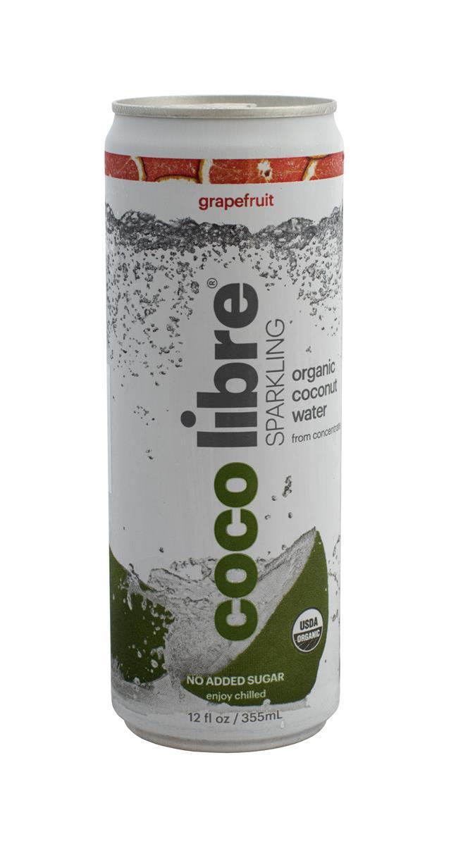 Coco Libre Sparkling Organic Coconut Water: CocoLibre SparkGrape Front