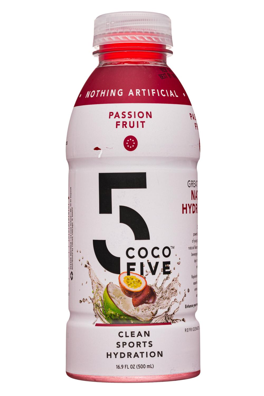 Coco5: Coco5-17oz-SportsHydration-PassionFruit-Front