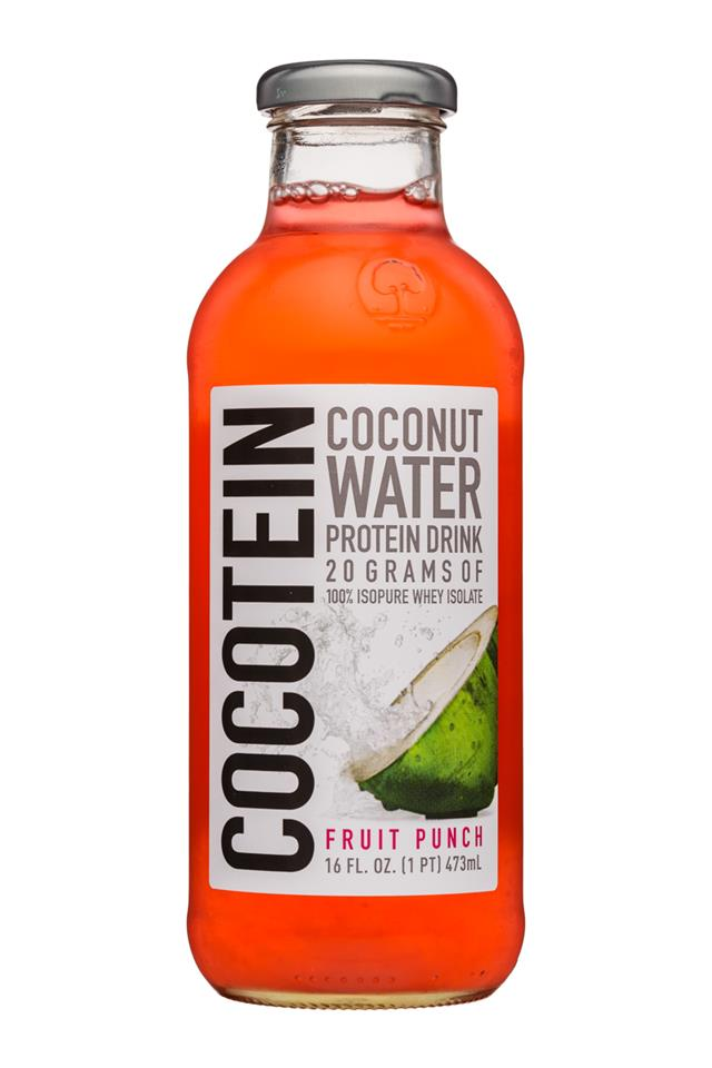 Cocotein: Cocotein-16oz-CoconutWater-FruitPunch-Front