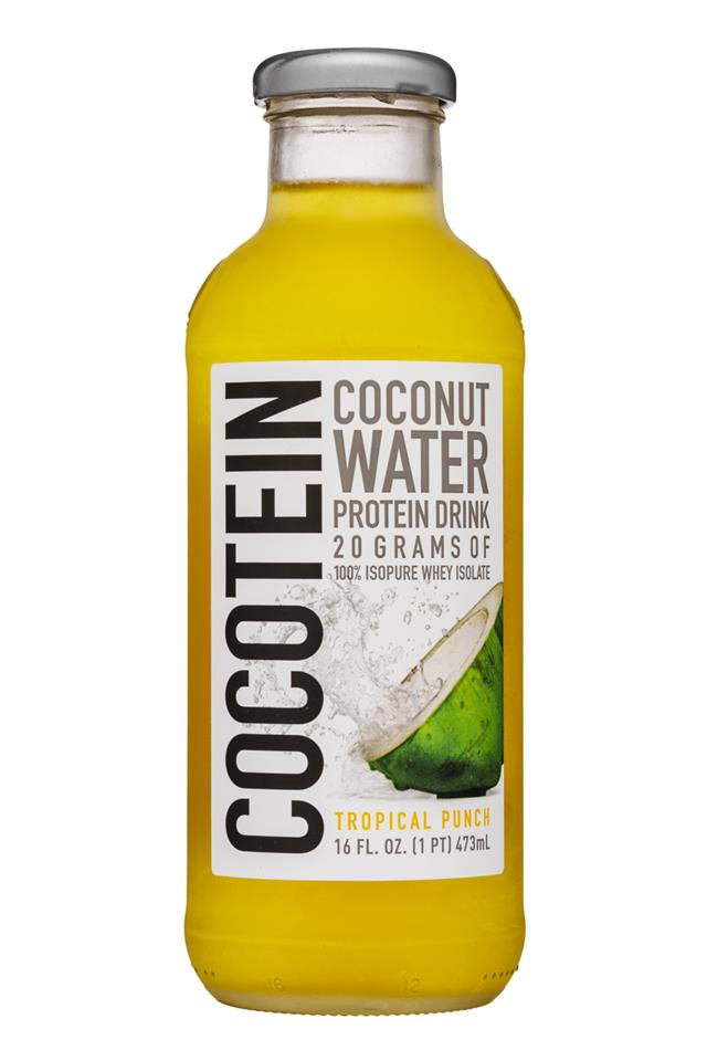 Cocotein: Cocotein-16oz-CocoWater-TropicalPunc-Front