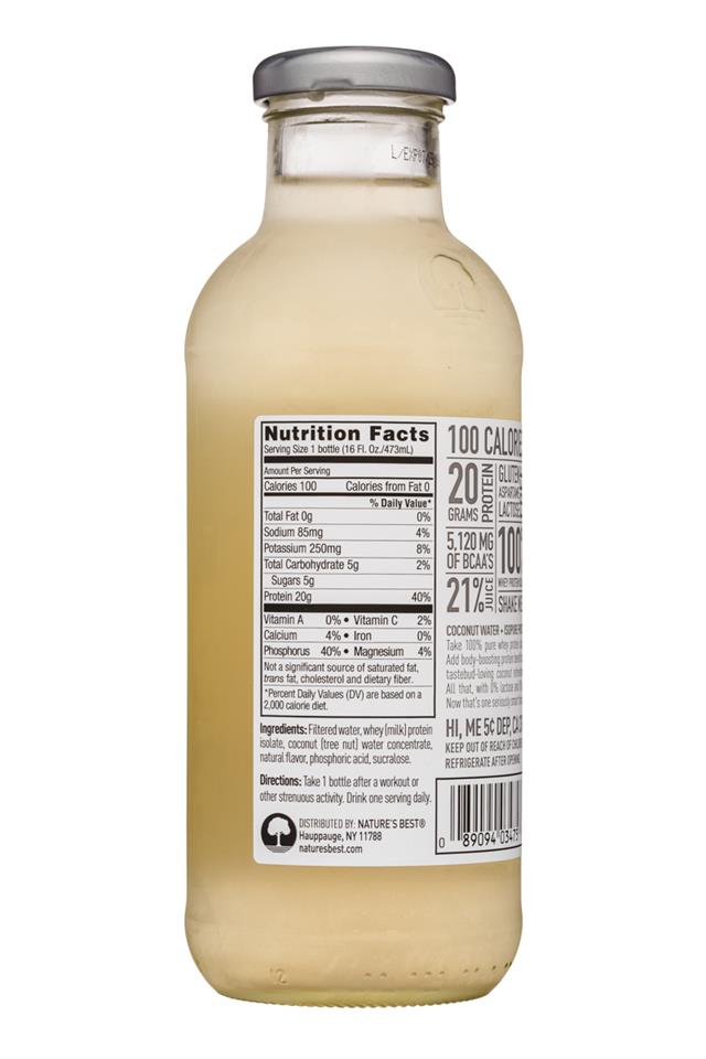 Cocotein: Cocotein-16oz-CocoWater-Original-Facts