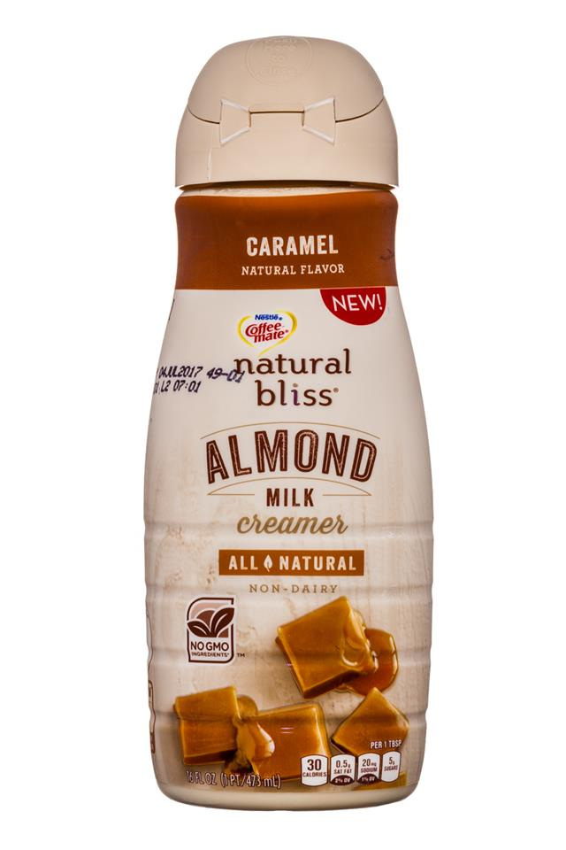 Coffee-mate Natural Bliss: CoffeeMate-16oz-AlmondMilkCreamer-Caramel-Front