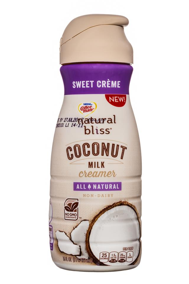 Coffee-mate Natural Bliss: CoffeeMate-16oz-CoconutMilkCreamer-SweetCreme-Front