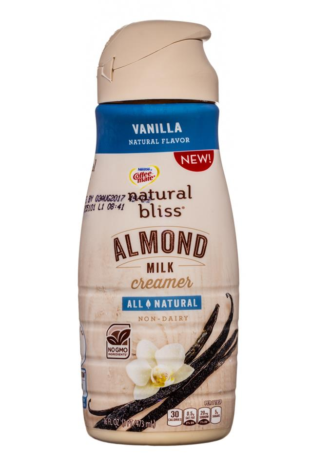 Coffee-mate Natural Bliss: CoffeeMate-16oz-AlmondMilkCreamer-Vanilla-Front