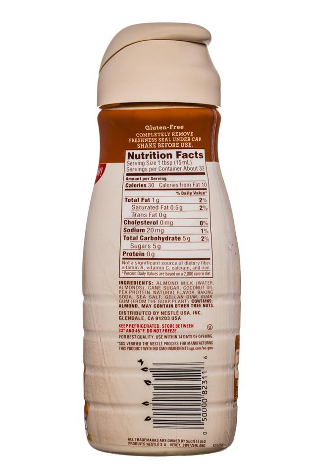 Coffee-mate Natural Bliss: CoffeeMate-16oz-AlmondMilkCreamer-Caramel-Facts