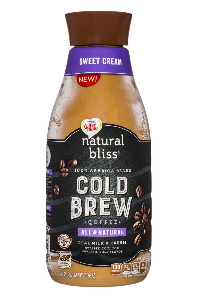 Coffee-mate Natural Bliss: Nestle-CoffeeMate-26oz-ColdBrew-SweetCream-Front