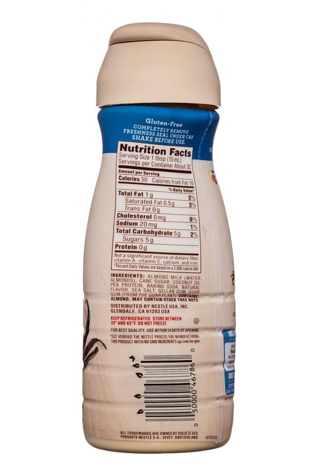 Coffee-mate Natural Bliss: CoffeeMate-16oz-AlmondMilkCreamer-Vanilla-Facts
