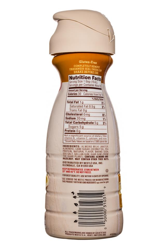 Coffee-mate Natural Bliss: CoffeeMate-16oz-AlmondMilkCreamer-Hazelnut-Facts