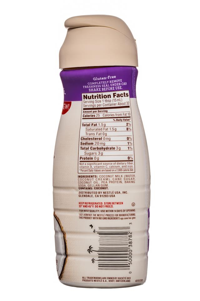 Coffee-mate Natural Bliss: CoffeeMate-16oz-CoconutMilkCreamer-SweetCreme-Facts