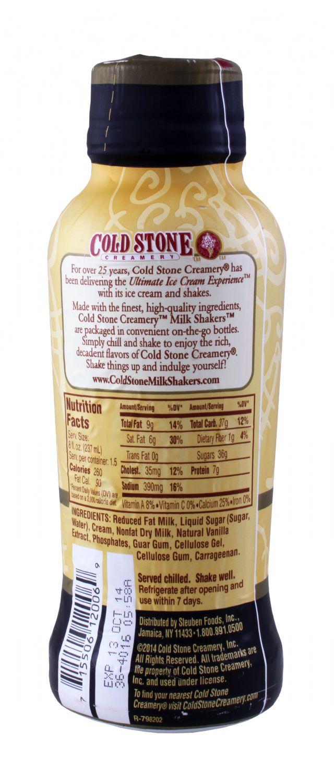Cold Stone Creamery Milk Shakers: ColdStone Vanilla Facts