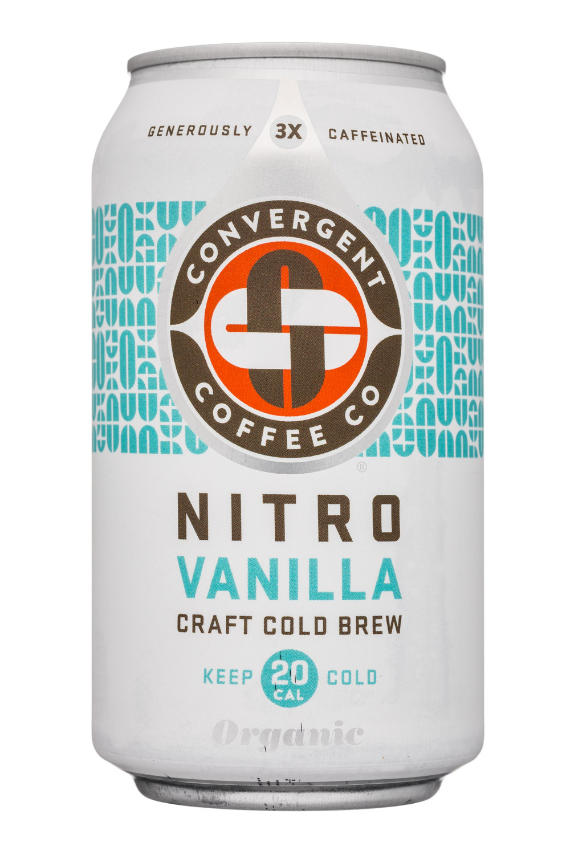 Convergent Coffee: ConvergentCoffeeCo-12oz-NitroColdBrew-Vanilla-Front