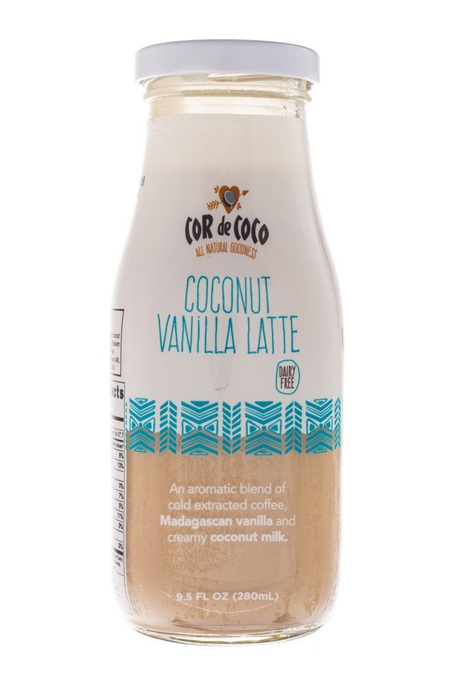 Cor de Coco Lattes: CorDeCoco-10oz-CoconutVanillaLatte-Front