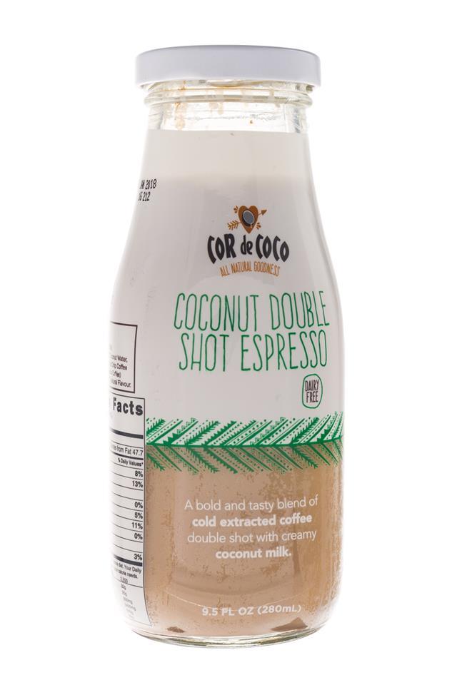 Cor de Coco Lattes: CorDeCoco-10oz-CoconutDoubleEspresso-Front