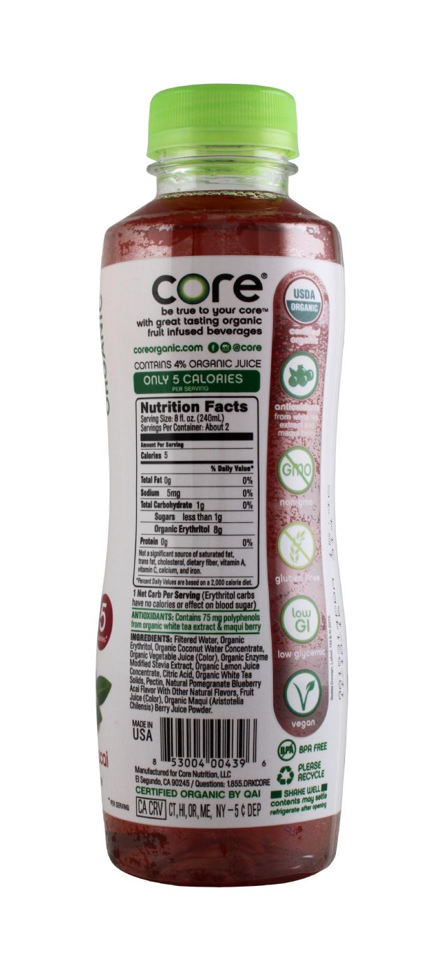 Core Organic: Core PomBlue Facts