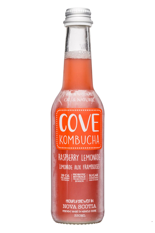 Cove Kombucha: CoveKombucha-330ml-RaspLemonade-Front