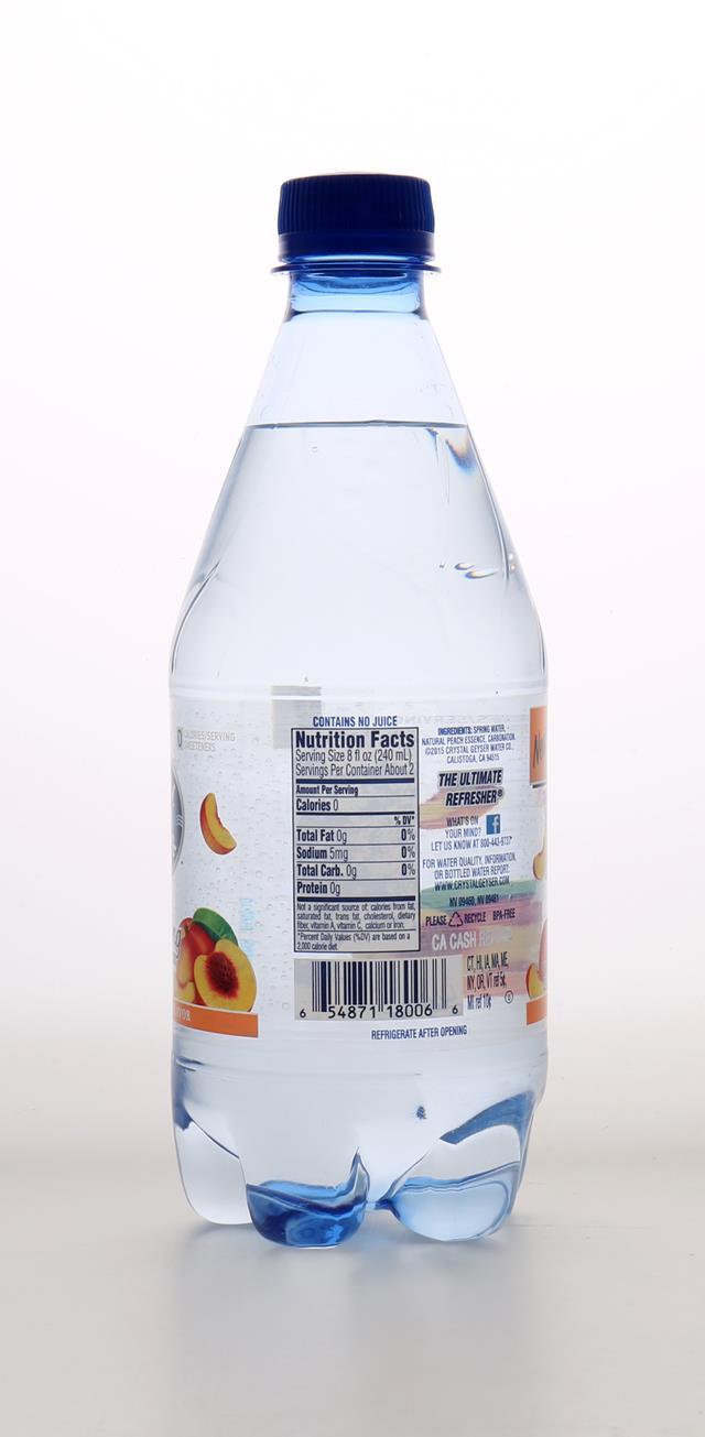 Crystal Geyser Sparkling Water: CrystalGeyser SparklingPeach Back
