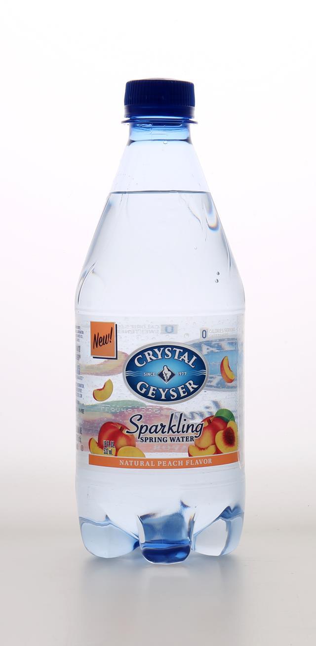 Crystal Geyser Sparkling Water: CrystalGeyser SparklingPeach Front