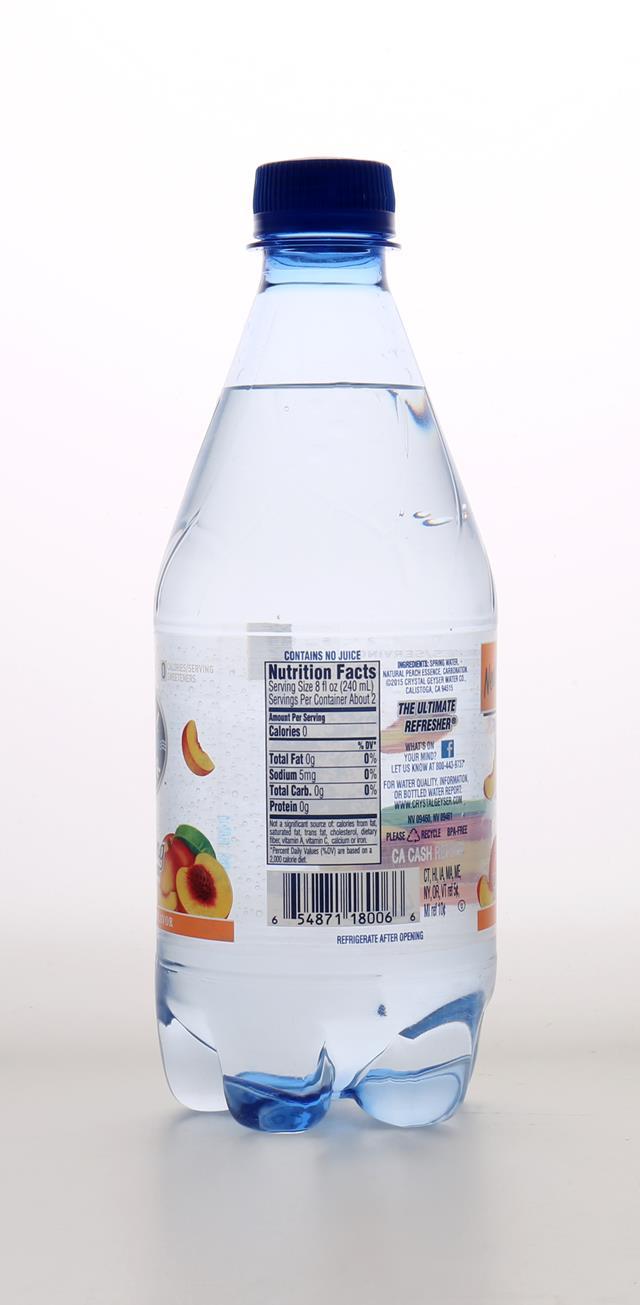 Crystal Geyser Sparkling Water: CrystalGeyser SparklingPineappleMango Back