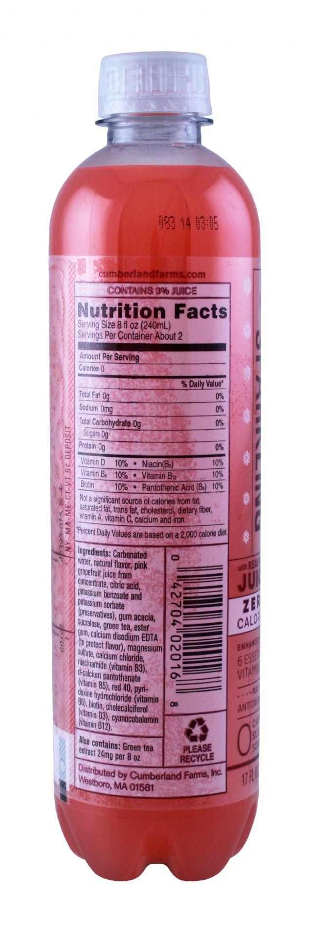 Cumberland Farms Sparkling Sno: Cumberlan PinkGrapefruit Facts