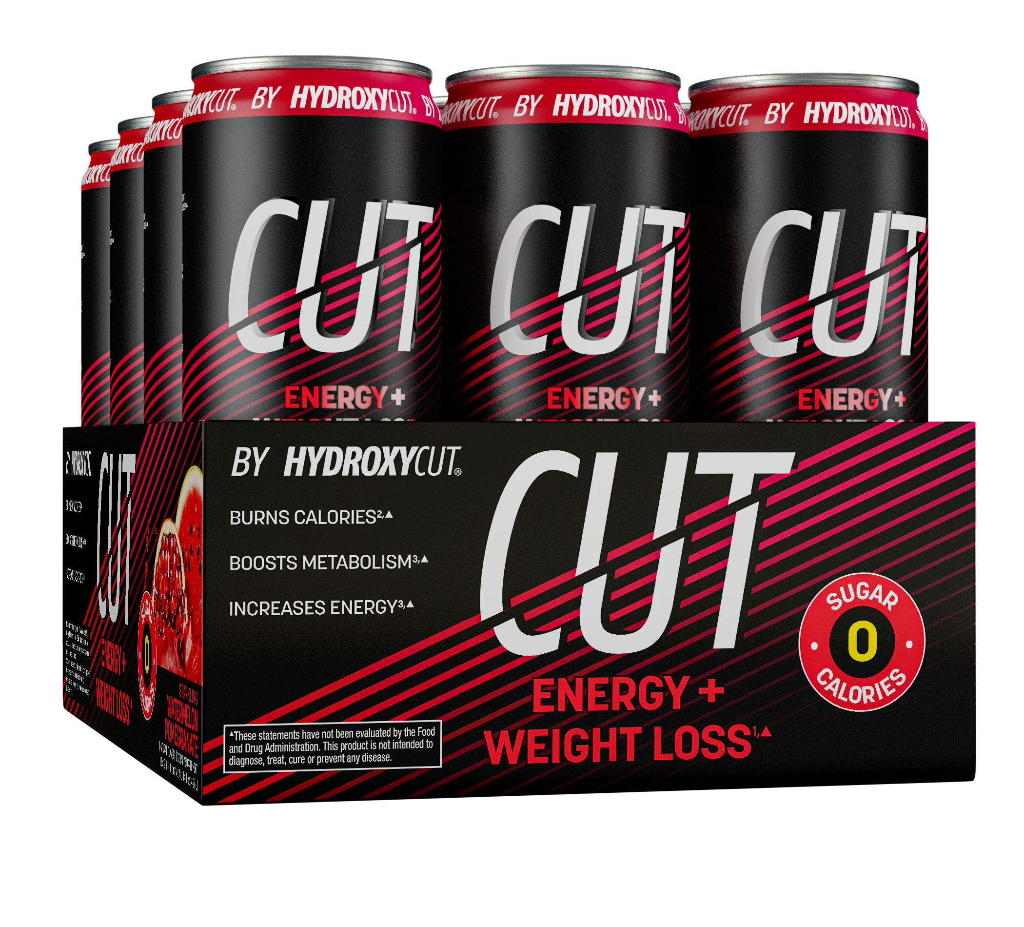CUT Energy Watermelon Pomegranate 12-pack
