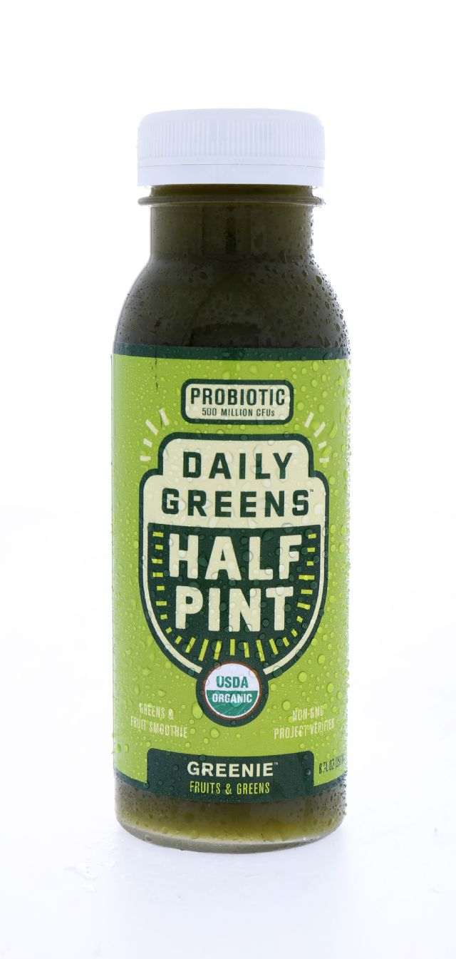 Daily Greens Half Pint: DailyGreens Greenie Front