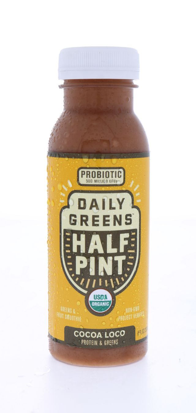 Daily Greens Half Pint: DailyGreens CocoaLoco Front