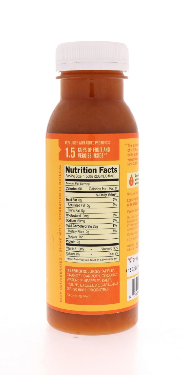 Daily Greens Half Pint: DailyGreens CarrotKick Facts