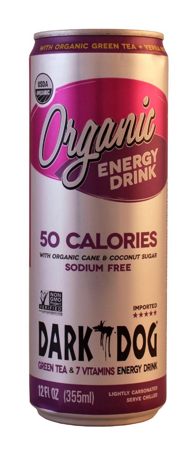 Dark Dog Organic Energy Drink: DarkDog 50 Front