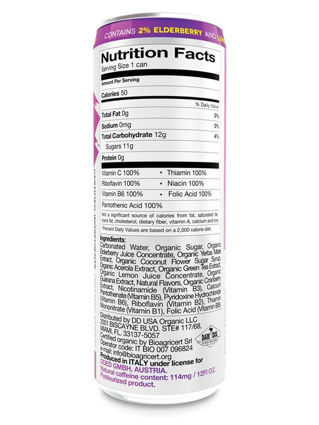 Dark Dog Organic Energy Drink: darkdog_organic_50cal_back