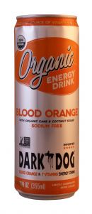 Dark Dog Organic Energy Drink: DarkDog BloodOrange Front