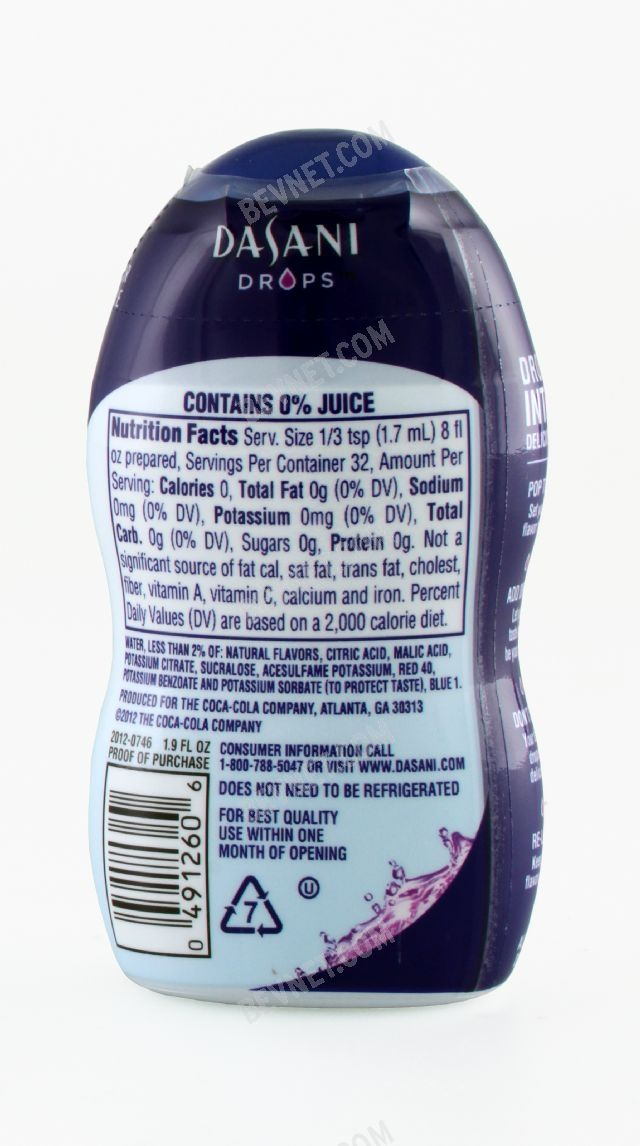 Dasani Drops Flavor Enhancer: