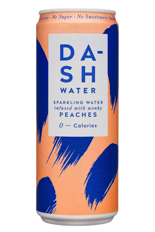 Dash Water: DashWater-10oz-2020-SparklingWater-Peaches-Front