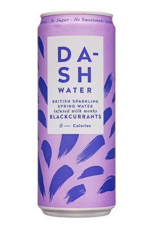 Dash Water: Dash-11oz-2020-SparklingWate-Blackcurrants-Front