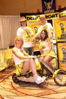 Team Deep Throat at the International Lingerie Show in Las Vegas with the Deep Throat Chopper