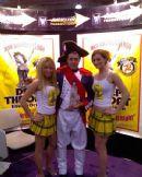 Deep Throat girls with Captin Morgan at the New York Bar Show