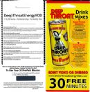 Deep Throat Energy Drink new - POS - Drink Mix card / 30 minutes of free adult on demand