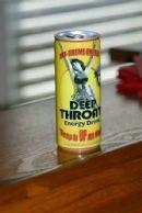 Deep Throat Energy Drink on bar