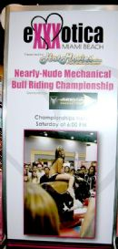 Exxxotica Miami 2007 Arrow Productions promo in booth for Deep Throat