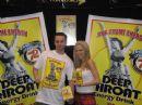 Robert Interlandi with Deep Throat girl at The Bar & Night Club convention in Las Vegas