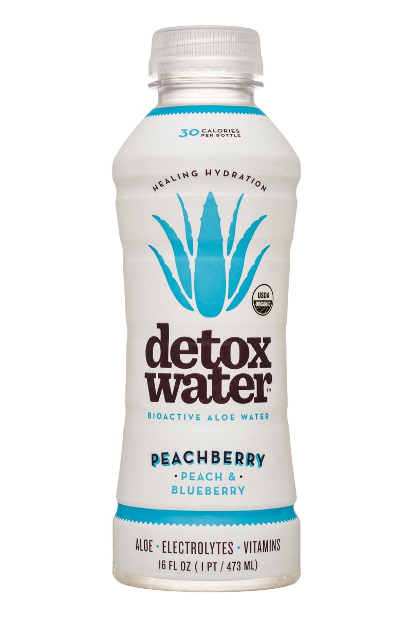 Detox Water: DetoxWater-16oz-AloeWater-Peachberry-Front