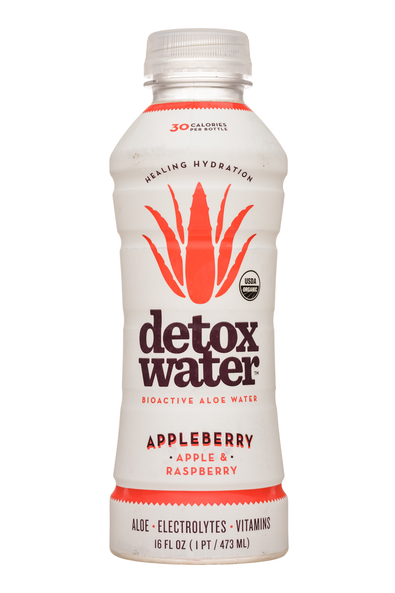 Detox Water: DetoxWater-16oz-AloeWater-Appleberry-Front