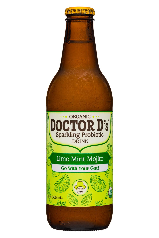 Doctor D's : DoctorDs-12oz-SparklingProbiotic19-LimeMintMojito-Front