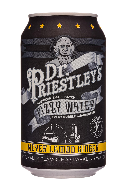 Dr. Priestley's Fizzy Water: DrPriestleys-12oz-FizzyWater-MeyerLemonGinger-Front