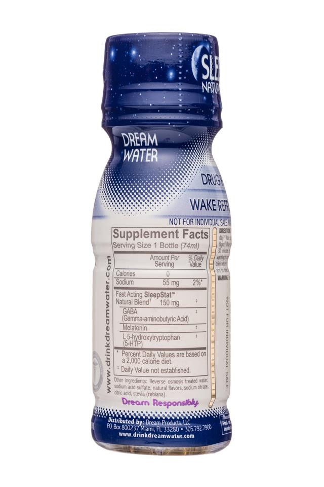 Dream Water: DreamWater-3oz-SleepShot-Snoozeberry-Facts