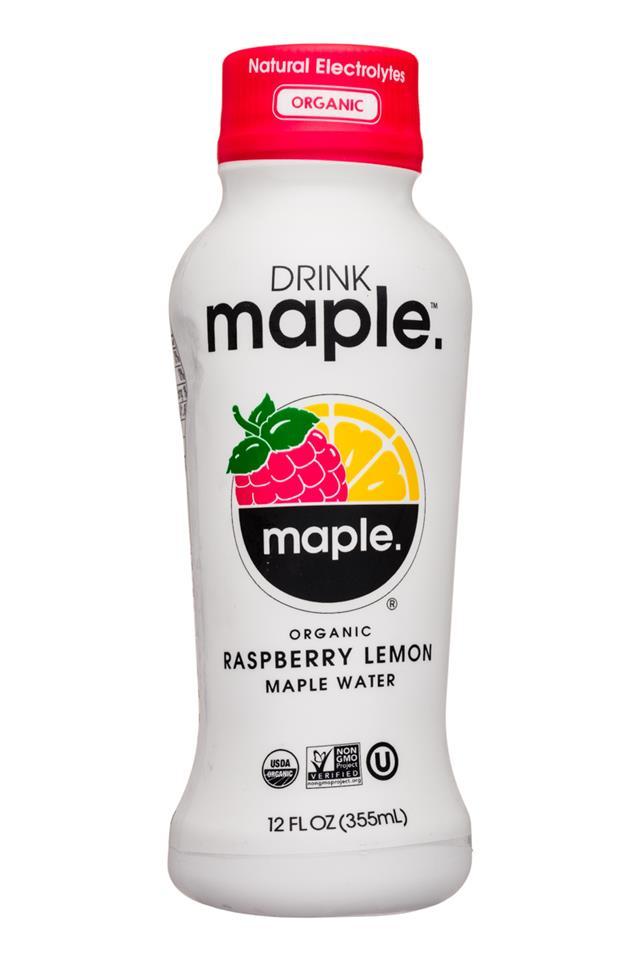 Drink Maple: DrinkMaple-12oz-Maple-RaspberryLemon-Front