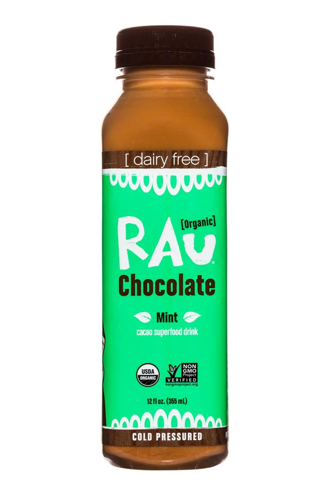 Rau Chocolate: Rau-OG-Choc-12oz-MInt-Front