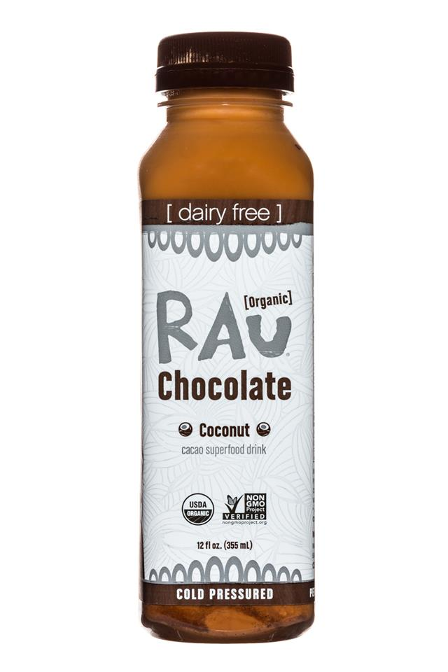 Rau Chocolate: Rau-OG-Choc-12oz-Coconut-Front