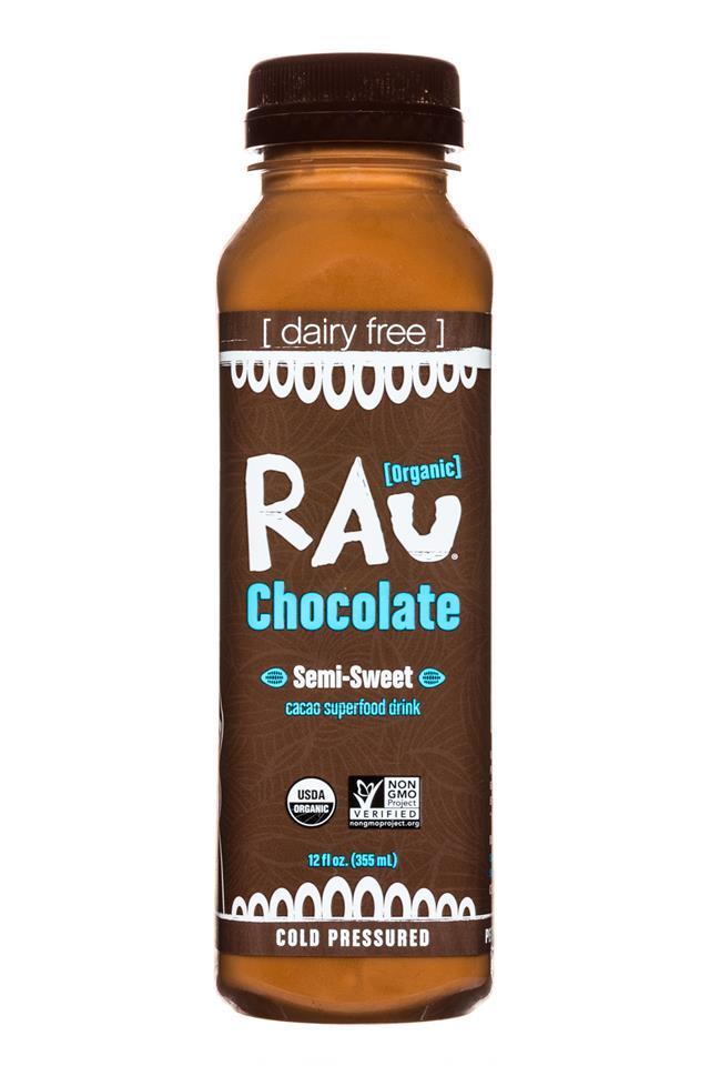 Rau Chocolate: Rau-OG-Choc-12oz-SemiSweet-Front