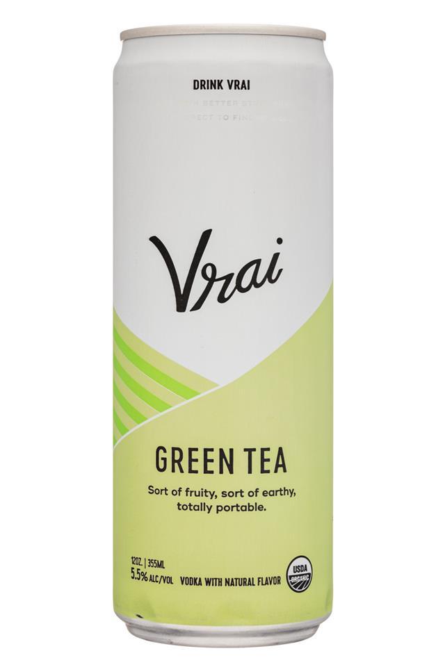 Drink Vrai: Vrai-12oz-GreenTea