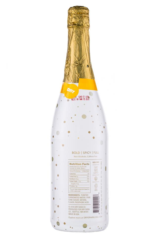 DRY Sparkling: DrySodaCo-Sparkling-25oz-Ginger-Facts